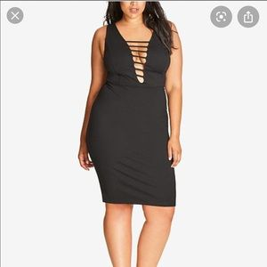 City Chic - VaVaVoom Cut our plunge dress